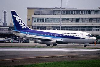 Air Nippon - An Air Nippon Boeing 737-200.