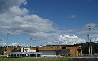 Aka Arena football stadium in Hønefoss, Norway