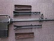 AR10 Armalite vue du fus démonté