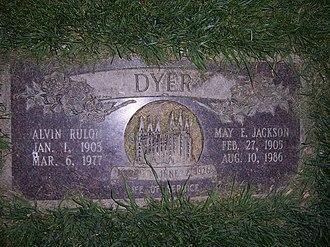 Alvin R. Dyer - Alvin R. Dyer's grave marker