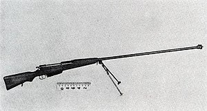 Anti-tank rifle - Polish Kb ppanc wz.35 7.92 mm anti-tank rifle used by the Polish Army in defence of Poland (September 1939).