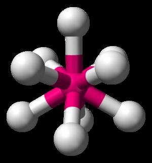 Tricapped trigonal prismatic molecular geometry - Image: AX9E0 3D balls
