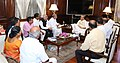 A Karnataka delegation led by Dr. Veerendra Heggade, Dharamadhikari of Shri Kshetra Dharmasthala, meeting the Union Home Minister, Shri Rajnath Singh, in New Delhi on August 31, 2016.jpg
