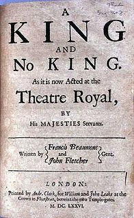 <i>A King and No King</i> 17th-century play by Beaumont and Fletcher