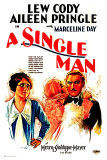<i>A Single Man</i> (1929 film) 1929 film by Harry Beaumont