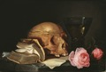 A Vanitas Still-Life with a Skull, a Book and Roses (Jan Davidsz. de Heem) - Nationalmuseum - 23891.tif