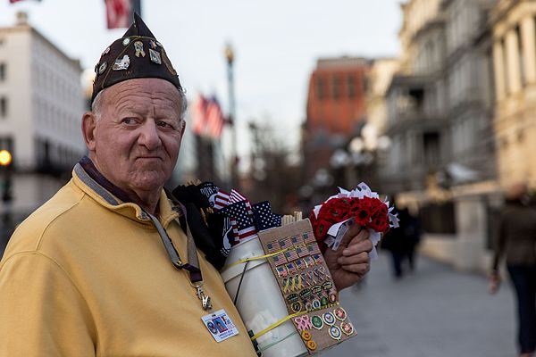 A Veteran selling pins & flags near the White House (32381627506).jpg