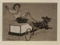 A little boy sitting on a box cart and driving a dog (HS85-10-23949) original.tif