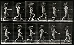 A little girl running. Photogravure after Eadweard Muybridge Wellcome V0048721.jpg