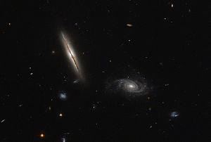 Eridanus (constellation) - Image: A misbehaving spiral