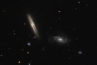 Eridanus (constellation) - Spiral galaxy LO95 0313-192 is located about one billion light-years away and has a spiral shape similar to that of the Milky Way.