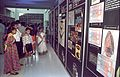 A to Z of Dinos Panels with Visitors - Dinosaurs Alive Exhibition - Science City - Calcutta 1995-June-July 483.JPG