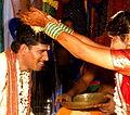 A wedding ritual by bride, Hindu culture religion rites rituals sights.jpg