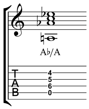 Bass note - Image: Ab over A slash chord
