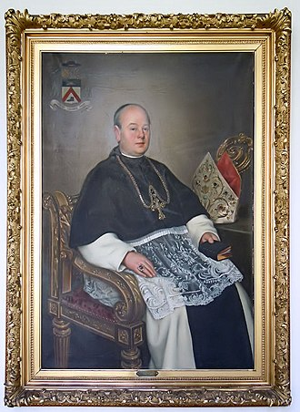 Bornem Abbey - Portrait of Thomas Schoen (abbot 1901–1934) by Jean-Baptiste Anthony, 1934