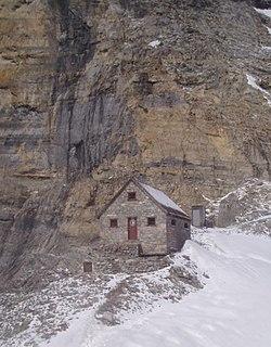 Abbot Pass hut building in Alberta, Canada