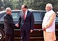 Abdel Fattah el-Sisi being received by the President, Shri Pranab Mukherjee and the Prime Minister, Shri Narendra Modi, at the Ceremonial Reception, at Rashtrapati Bhavan, in New Delhi.jpg