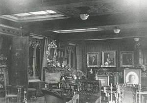 Abney Hall - The drawing room, 1913