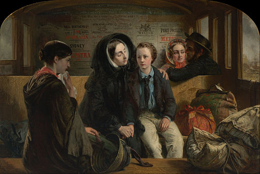 Abraham Solomon - Second Class - the parting- 'Thus part we rich in sorrow parting poor' - Google Art Project
