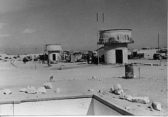 Abu Ageila - Egyptian water tanks at Abu Ageila. 1948