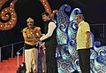 Actor-dancer Vineet being felicitated by the Minister of State for Information & Broadcasting, Col. Rajyavardhan Singh Rathore, at the inauguration of the 45th International Film Festival of India (IFFI-2014), in Panaji.jpg