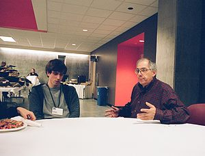 Steven Levy - Steven Levy and Adam D'Angelo (left)
