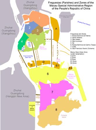 Parishes of Macau - Freguesias of Macau