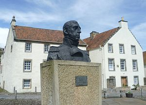 Thomas Cochrane, 10th Earl of Dundonald - Admiral Cochrane bust in Culross