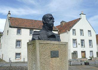 Thomas Cochrane, 10th Earl of Dundonald - Admiral Cochrane bust in Culross