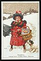Advert for Sunlight Soap with a girl and dog in the snow Wellcome L0044206.jpg