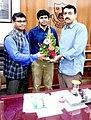 Advocate Dharmpal Meshram with Mayor Sandip Joshi.jpg