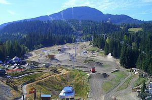Aerial View of Whistler Mountain Bike Park, Wh...