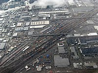 Aerial view of railroads in Seattle.jpg