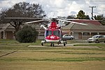 AgustaWestland AW139 (VH-SYZ) operated by Lloyd Off-Shore Helicopters for Ambulance Service of New South Wales as Rescue 24 at the Duke of Kent Oval Helipad (3).jpg