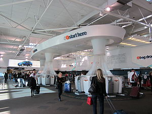 Air New Zealand check in hall at Auckland Airport June 2012.JPG