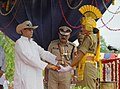 Ajit Singh gave away the trophies to the trainees of First batch of A S IExe of CISF for their outstanding performance at Regional Training Centre Arakkonam, in Tamil Nadu on July 21, 2012.jpg