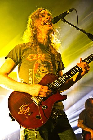 Mikael Åkerfeldt - Mikael Åkerfeldt with Opeth at Leipzig – November 2012