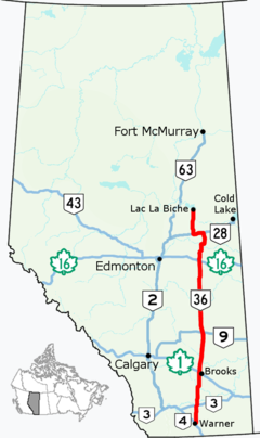 Alberta Highway Wikipedia - Us highway 36 map