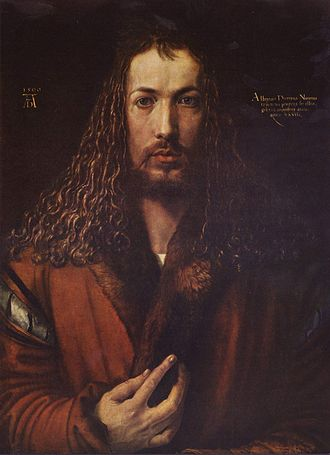Renaissance humanism in Northern Europe - Albrecht Dürer, self-portrait, 1500