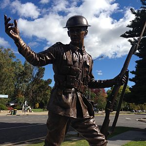 Alby Lowerson - Alby Lowerson VC Memorial statue