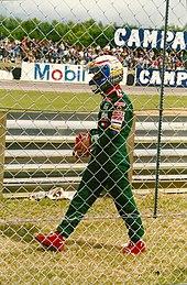 Zanardi alla Lotus, qui costretto al ritiro nel Gran Premio di Gran Bretagna 1993.