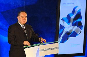 The First Minister of Scotland, Alex Salmond
