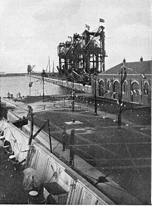 Cardiff Docks - Opening of the Queen Alexandra Dock in 1907. Picture taken by Queen Alexandra