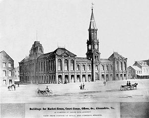 Alexandria City Hall - Alexandria City Hall in 1871