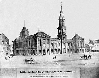 Alexandria City Hall - Alexandria City Hall in 1871