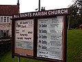 All Saints Church Noticeboard - geograph.org.uk - 229854.jpg