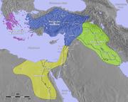 Oriente Medio hacia 1400a.C.