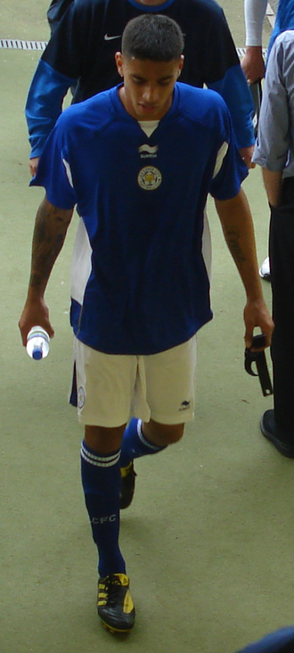 Aman Verma (footballer) - Verma playing for Leicester City in a friendly in 2010.