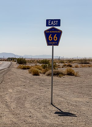 County Route 66 (California) - CR 66 sign near Amboy