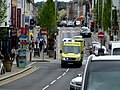 Ambulance in a hurry, Omagh (geograph 5010350).jpg
